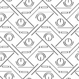Art deco simple linear seamless pattern. On background Stock Photos