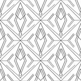 Art deco simple linear seamless pattern Royalty Free Stock Image
