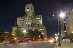 The Art Deco Skyscraper in the night, NY. The Alfred E. Smith State Office Building, Albany, NY. Completed in 1928, it houses offices of the New York State Stock Photos