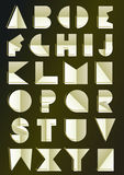 Art Deco spornte Alphabet an Stockbild