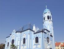 Art Deco St Elisabeth kościół w Bratislava (Błękitny) Fotografia Stock