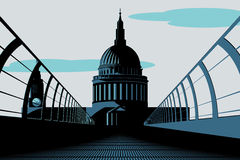 Art Deco St Pauls Cathedral Illustration Stock Photo