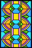 Art deco stain glass design Royalty Free Stock Photo
