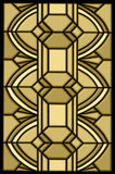 Art deco stain glass design stock photos