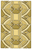 Art deco stain glass design stock image