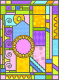 Art-deco Stained Glass Art Stock Image