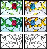 Art Deco Stained Glass Design Immagine Stock Libera da Diritti