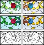 Art Deco Stained Glass Design Imagen de archivo libre de regalías