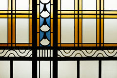 Art Deco Stained Glass Detail Stock Photography