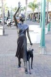 Art Deco statue in Napier, New Zealand Royalty Free Stock Photo