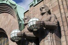 Art Deco Statues - Helsinki - Finland royalty-vrije stock fotografie