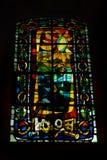Art Deco-stijlgebrandschilderd glas, Montmarte, Parijs Stock Foto