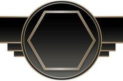 Art Deco Stye Badge Fotografía de archivo libre de regalías