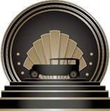Art Deco Stye Badge Imágenes de archivo libres de regalías