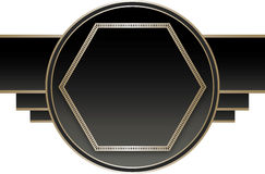 Art Deco Stye Badge Royalty Free Stock Photography