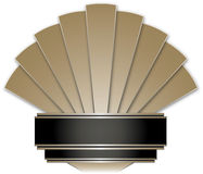 Art Deco Stye Badge Stock Photography