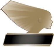Art Deco Stye odznaka Zdjęcie Stock