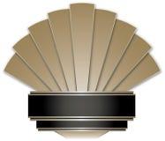 Art Deco Stye odznaka Fotografia Stock
