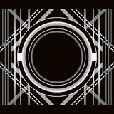 Art Deco style abstract geometric frame. Stock Images