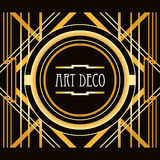 Art Deco style abstract geometric frame Stock Photos