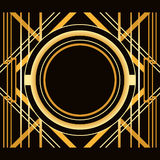 Art Deco style abstract geometric frame. Royalty Free Stock Photos