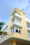 Art Deco Style Avalon in Miami Beach. Art Deco Style Building Avalon, Miami, Florida, USA. Avalon Hotel on Ocean Drive is an example of Streamline Moderne, is stock image