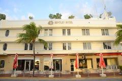 Art Deco Style Bentley in Miami Beach Royalty Free Stock Photo