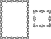 Art Deco Style border frame Royalty Free Stock Photo