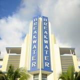 Art Deco Style Breakwater In Miami Beach, FL, USA Royalty Free Stock Photography