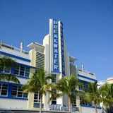 Art Deco Style Breakwater in Miami Beach Royalty Free Stock Photos