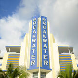 Art Deco Style Breakwater in Miami Beach Royalty Free Stock Photography