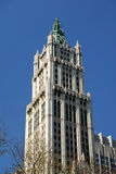 Art Deco Style in Building in New York. Woolworth Building in Art Deco Style in New York City stock photos