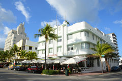 Art Deco Style Carlyle in Miami Beach Royalty Free Stock Images