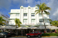 Art Deco Style Carlyle in Miami Beach Royalty Free Stock Photo