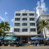 Art Deco Style Clevelander in Miami Beach Stock Images