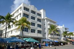 Art Deco Style Clevelander in Miami Beach Royalty Free Stock Image