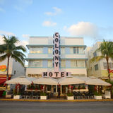 Art Deco Style Colony in Miami Beach Stock Photos