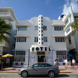 Art Deco Style Congress in Miami Beach. Art Deco Style Building Congress in Miami Beach in the morning, Miami, Florida, USA Stock Photo