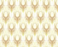 Art deco style geometric seamless pattern in black and gold. Vec. Tor illustration. Roaring 1920's design. Jazz era inspired . 20's. Vintage Fabric, textile Royalty Free Stock Photography