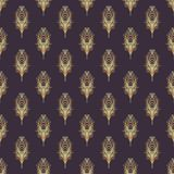 Art deco style geometric seamless pattern in black and gold. Vec. Tor illustration. Roaring 1920's design. Jazz era inspired . 20's. Vintage Fabric, textile Stock Photography