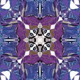 MANDALA ART DECO BLUE AND PURPLE, WITH WHITE CENTER, CELTIC IMAGE IN THE CENTER, ABSTRACT BACKGROUND, BLUE, PURPLE, BROWN, WHITE, vector illustration