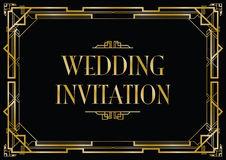 Art deco style invitation card Royalty Free Stock Images