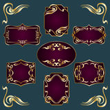 Art Deco Style Labels royalty free illustration
