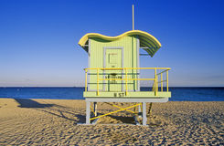 Art deco style lifeguard house on south beach, Miami Beach, Florida Stock Photos