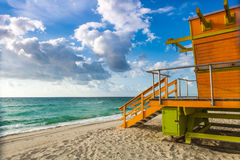 Art deco style lifeguard station - stock image Royalty Free Stock Images
