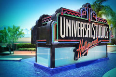 Neon sign at Universal Studios, Hollywood, Los Angeles stock image