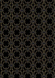 Art Deco Style Pattern inconsútil Imágenes de archivo libres de regalías