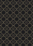 Art Deco Style Pattern sans couture Photos stock