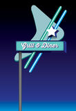 Art deco style retro vintage diner signage Stock Images