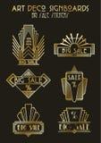 Art Deco Style Sale Stickers-Satz stock abbildung